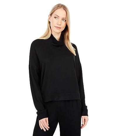 Splendid Lena Mock Neck Super Soft Brushed Side Out Sweatshirt Women