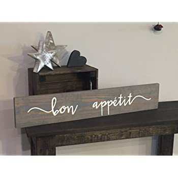 Dkisee Pallet Wooden Bon Appetit Sign Kitchen Dining Room Family Love Rustic Decor Farmhouse Style Fixer Upper Wooden 5 9x15 7 Inches Amazon Co Uk Kitchen Home