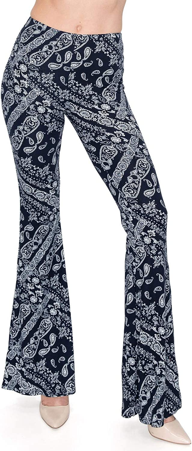 Trendy Street Elastic Waist Printed New color Flare Wide Palazzo Leg Comfy excellence