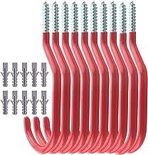 TooTaci Fiets haken,10 Pack Heavy Duty fiets opslag haken Set,Schroef-in Utility Storage Hangers schuur Garage Tuin Haak K...