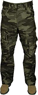 Kam Mens CAMO Combat Cargo Trouser Pants Relaxed FIT 30-60