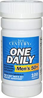 21st Century Men's 50+ One Daily Multivitamin Multimineral Supplement Tablets - 100 ct, Pack of 2