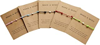 Simple Adjustable Braided Heart Shaped Bracelet With Wish Cards Star Wrap Wristband Bangle For Women Girls Friendship Jewe...