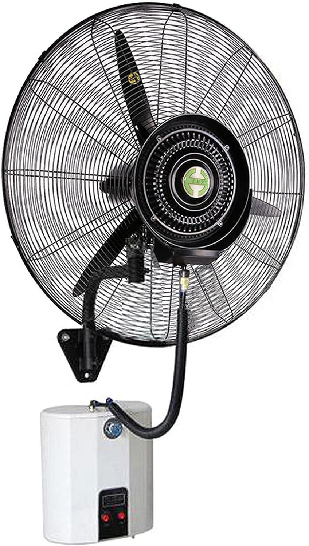 ventiladores de bocina de atomización montados en la pared, ventilador de nebulización eléctrico oscilante de pared silencioso con enfriamiento por pulverización para oficinas industriales comerciales