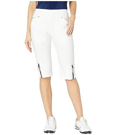 Jamie Sadock 24.5 Skinnylicious Pull-On Knee Capris (Sugar White) Women