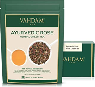 VAHDAM, Ayurvedic Herbal Tea (50 Cups), 21 HERBS, 100% Natural Tea, Organic Green Tea Leaves blended with 21 Medicinal Her...