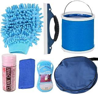 VXCAN Kit de limpieza para coche (7 piezas, incluye bolsa de almacenamiento redonda,