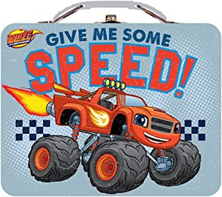 The Tin Box Company Large Carry All Tin Lunchbox (Blaze And The Monster Machines Speed)