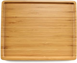 BambooMN Organic Bamboo Serving Tray w/Rounded Edges - 11