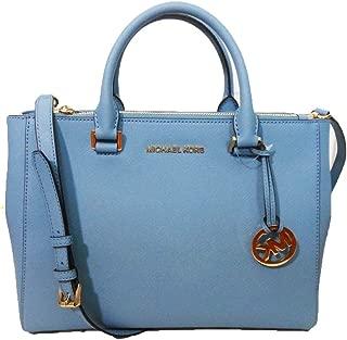 Kellen Medium Satchel Sky Blue Leather