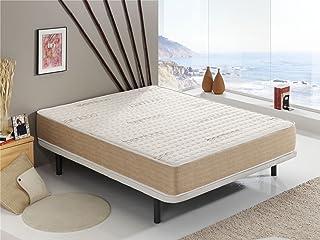 Colchón Visco Bamboo® 120x190 cm Altura +/- 18 cm - Espumación ViscoSoft - Fibras Naturales Hipoalergénicas - Terapia Relax - Acolchado con Tejido Bamboo - Libre de sustancias nocivas