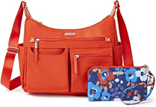 """Baggallini Women's New Classic""""Heritage"""" Anywhere Large Hobo with RFID Phone Wristlet"""