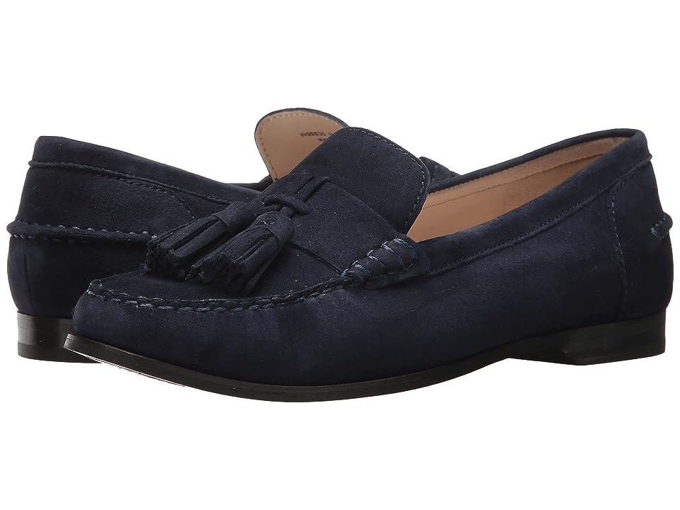 Cole Haan Emmons Tassel Loafer II (Marine Blue Suede) Women