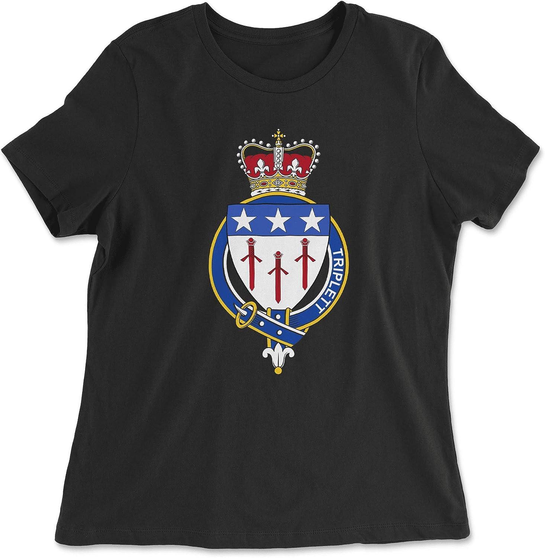 HARD EDGE DESIGN Women's Scottish Garter Family Triplett T-Shirt