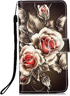 TTNAO Kompatibel med Xiaomi Redmi Note 10 Pro-fodral, plånboksmönster i läder stötsäker kortplats PU-stativfunktion stötdä...