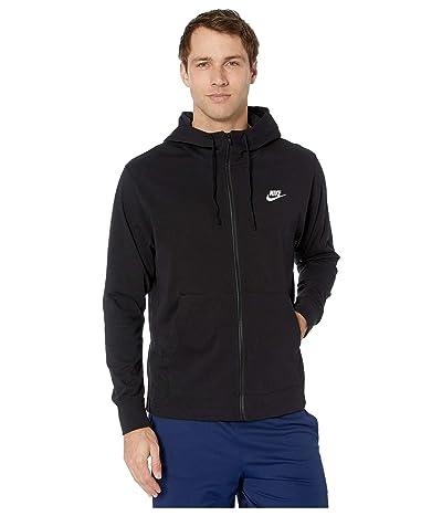 Nike NSW Club Hoodie Full Zip Jersey (Black/White) Men