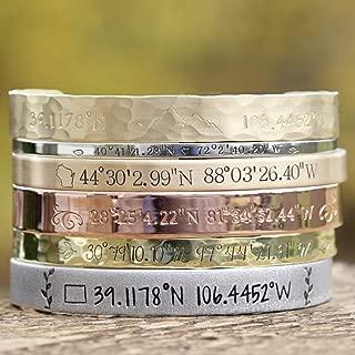 stamped copper bracelet