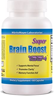 Brain Supplement Nootropic Super Brain Boost 1554 Improve Focus Calrity Memory Concentration Contains Ginkgo Biloba St. Jo...