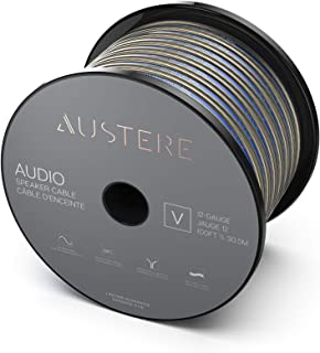 Austere V Series 12AWG Speaker Cable 100ft | Oxygen Free Copper, Soft-Touch High Flex Cable & Precision Pull Marker