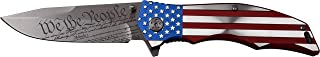 MTECH USA MX-A849CL Spring Assist Folding Knife, Straight Edge Blade, American Flag Handle, 5