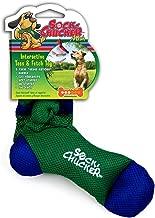 Penn Plax Sock Chucker Dog Toy, Medium, Green