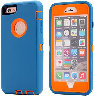 iPhone 8/ iPhone 7 Shockproof Case, AICase [Heavy Duty] [Full Body] Tough 3 in1 Rugged Armor Water-Resistance Cover Shock,Reduction/Bumper Case for Apple iPhone 8/7 (Orange/Blue)