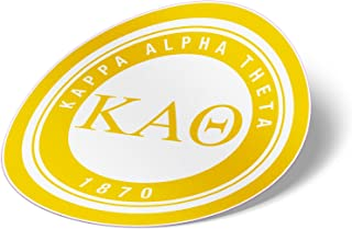 Kappa Alpha Theta Sticker Sorority Seal Decal Exclusively Designed 3 Inch Greek for Window Laptop Computer Car