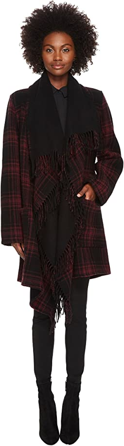 The Kooples - Mid-Length Check Poncho
