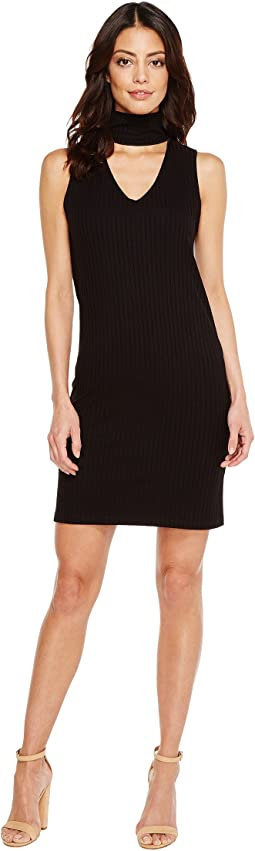 LNA - Sleeveless Detached Turtleneck Dress