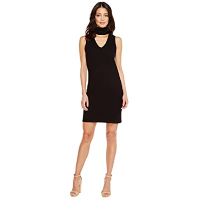 LNA Sleeveless Detached Turtleneck Dress (Black) Women