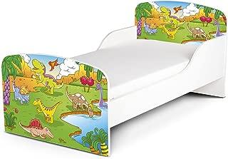 Price Right Home Dinosaur Design MDF Toddler Bed storage Deluxe Foam Mattress