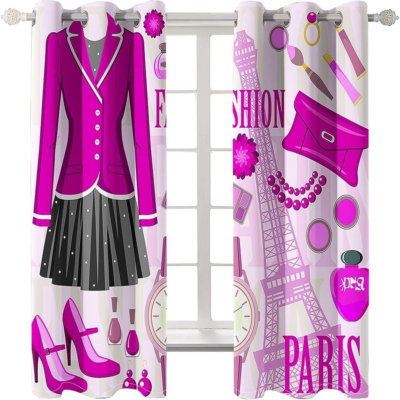 Aokarry Bedroom Mail order cheap Curtain Set Polyester Uniform Grommet Cu San Antonio Mall Fashion