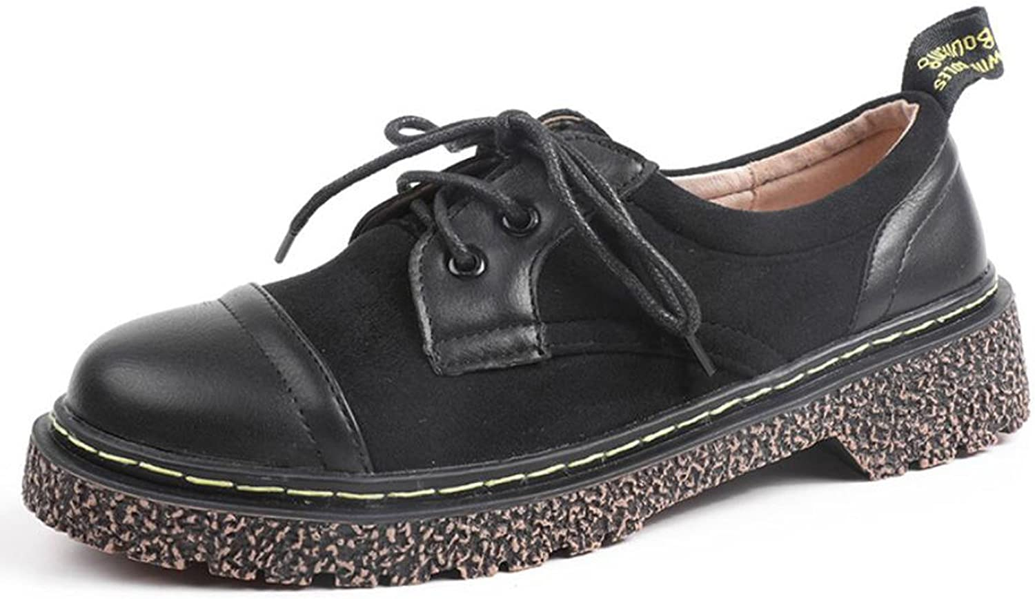 Women's shoes Lace-Up Loafers Low Heel Flat shoes for Outdoor Fall