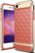 Caseology Parallax for Apple iPhone 8 Case (2017) / for iPhone 7 Case (2016) - Award Winning Design - Coral Pink