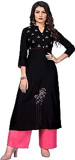 Vbuyz Women's Rayon Straight Kurti(VF-KU-466)