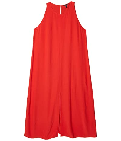 Eileen Fisher Round Neck Maxi Dress (Geranium) Women