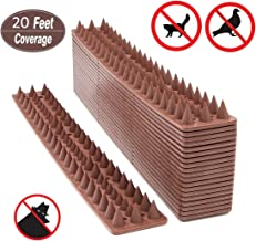 KIMANN Bird Spikes Defender Repellent Pigeon/Cats Scare Spiral Spikes, Critters Deterrent & Control Anti-Climbing Protect Fence Walls, Railing, Walls and Roof (20 FT / 6 Meter)