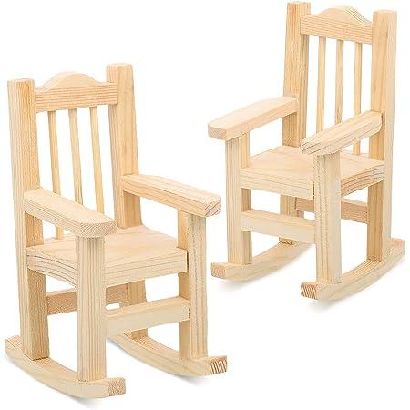 1:12 Dollhouse Mini Furniture Wooden Chair White For Dolls House Toys Decor Z0N8