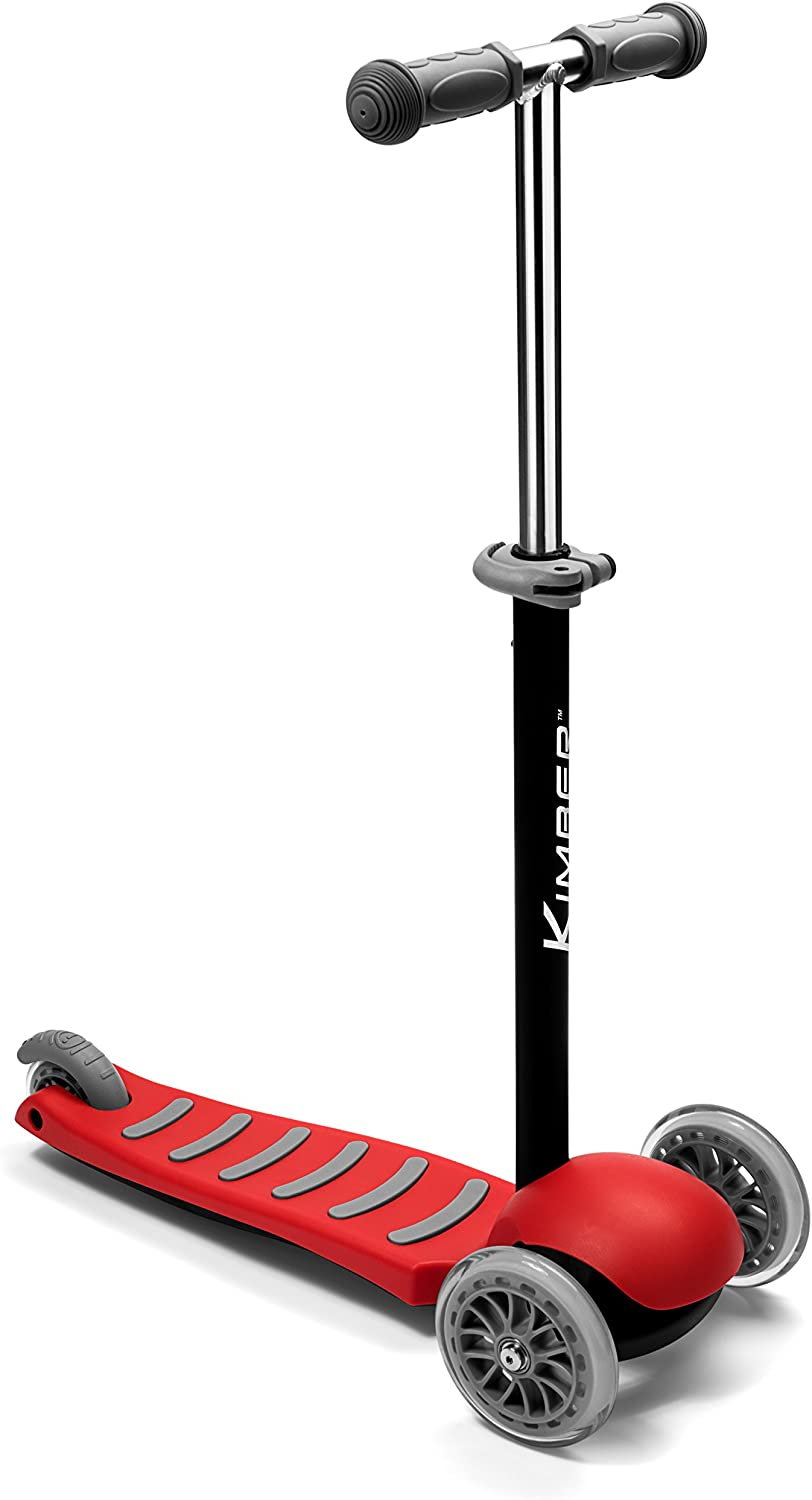 Kimber Verve by PlaSmart Inc.  3Wheel Junior Kick Scooter, Red, Ages 3 to 5 Yrs