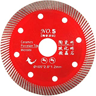 Red Diamond Turbo 108 Tooth Saw Blade for Cutting Concrete Granite Marble Tile Stone 105mm