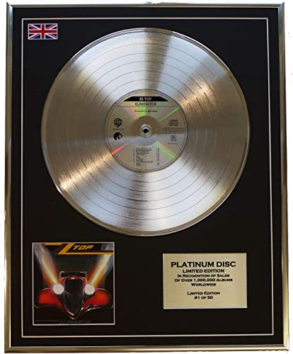 Everythingcollectible ZZ Top Edition Limitee Cadre CD Disque DE Platine Eliminator