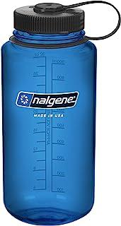 Nalgene Tritan Wide Mouth BPA-Free Water Bottle, Blue w/Black Cap, 32-Ounces