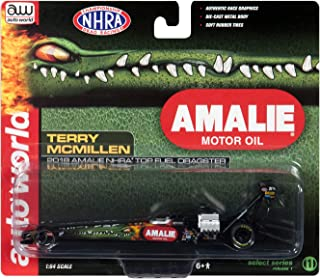 2018 Funny Car NHRA Terry McMillen Amalie Oil TFD 1/64 Diecast Model Car by Autoworld AWSP019