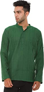 EASY 2 WEAR ® Men Chinese Collar Kurta/Shirt Plus Size - Foldable Sleeves (S to 5XL) Comfort/Regular FIT