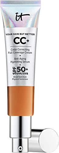 IT Cosmetics Your Skin But Better CC+ Cream, Rich (W) - Color Correcting Cream, Full-Coverage Foundation, Anti-Aging ...
