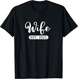 Wife Est. 2021 Matching Couple Married This Year Newlywed T-Shirt