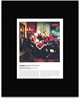 Stick It On Your Wall Accept - Russian Roulette Mini Poster - 29x21cm