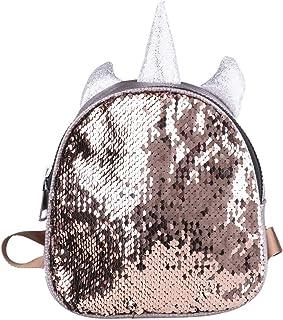 Mini Mochila Unicornio Niña Mochila Lentejuelas Brillante Mochila Guarderia Infantil Pequeño Mochila Escolar Juvenil Viaje Bolso con Orejas Cuerno Bag para Niñas Mujeres Chicas