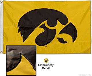 College Flags & Banners Co. Iowa Hawkeyes Embroidered and Stitched Nylon Flag