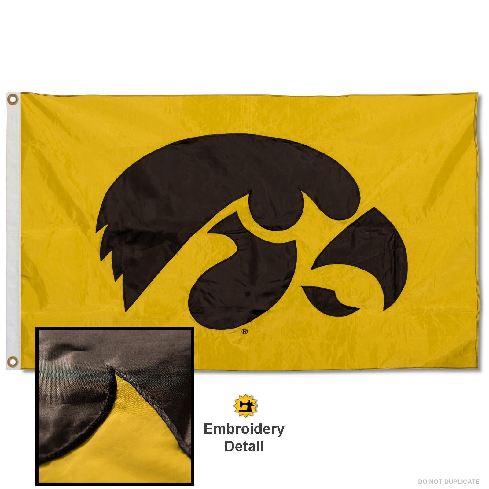 WinCraft NCAA University of Iowa 02016115 Deluxe Flag 3 x 5